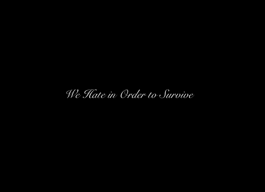 We hate in order to survive_Flyer
